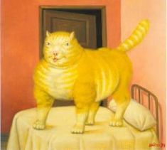 The Cat 1994 | Fernando Botero | oil painting #fatpeoplepaintings