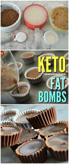 Almond Butter Chocolate Keto Fat Bombs Eating low carb or Keto and craving chocolate? Take the edge off with these 4 ingredient Chocolate KETO FAT BOMBS! Almond Butter Fat Bombs, Coconut Peanut Butter, Reeses Peanut Butter, Fat Bombs Coconut Oil, Almond Butter Keto, Peanut Butter Bombs, Coconut Flour, Almond Flour, Cream Cheeses