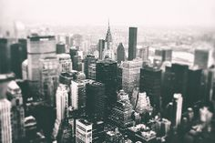 New York City - Chrysler Building and Skyscrapers From Above  http://rj-mac.tumblr.com