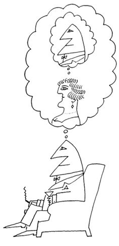 Saul Steinberg 03 I'm missing you missing me