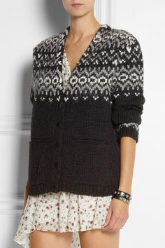 Saint Laurent | Oversized knitted cardigan | NET-A-PORTER.COM