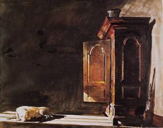 Andrew Wyeth (1917 — 2009, USA)  The Kass. 1975–1975 watercolor. 58.4 x 73.7 cm. (23 x 29 in.) © Andrew Wyeth