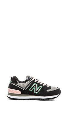 New Balance Palm Springs Collection Sneaker in Black   Pink Zapatillas  Deportivas 47695eba4975