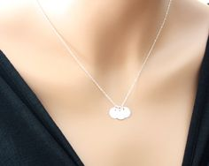 Three initial discs necklace - Sterling Silver, SATIN discs, engraved monogram necklace, family friendship necklace , sister mom gifts