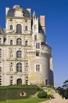 Château de Brissac,Maine-et-Loire, France.The Chateau de Brissac is a curious mixture.Medieval towers and newer sections from the Loire Valley, France. Beautiful Castles, Beautiful Buildings, Beautiful Places, Palaces, The Places Youll Go, Places To Visit, Photo Chateau, Medieval Tower, Medieval Castle