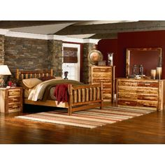 Up North King Log Bed | HOM Furniture