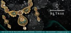 For the multihued, vivacious and fearless #BridalDiva, this eloquent 22Kt #BridalNecklaceSet makes the perfect accompanist. What say?