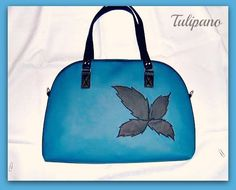 Csinos, kék, leveles táska Kate Spade, Bags, Handbags, Bag, Totes, Hand Bags