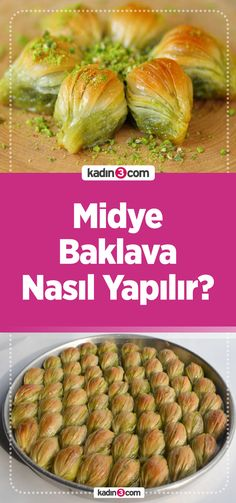 Midye Baklava Tarifi – Kadın 3 – Kadın Sitesi – Tatlı tarifleri – Las recetas más prácticas y fáciles Shellfish Recipes, Meat Recipes, Turkish Chef, Turkish Baklava, Turkish Recipes, Ethnic Recipes, Dessert Recipes, Cake Recipes, Easy Meals