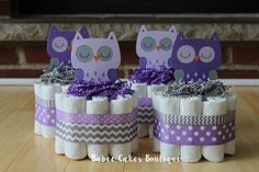 Trendy Baby Shower Ideas For Girs Themes Owls Grey Baby Shower Purple, Baby Girl Shower Themes, Girl Baby Shower Decorations, Girl Decor, Baby Shower Cakes, Owl Centerpieces, Baby Shower Centerpieces, Trendy Baby, Bebe Shower