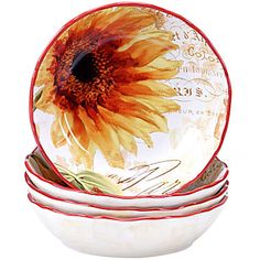 Buy Certified International Paris Sunflower Set of 4 Pasta Bowls today at jcpenneycom You deserve great deals and weve got them at jcp!