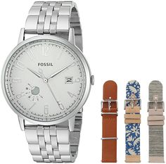 Fossil Vintage Muse Stainless Steel and Leather Watch Box Set * Click image for more details.