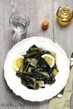 Blettes à l'italienne au citron et à l'huile d'olive