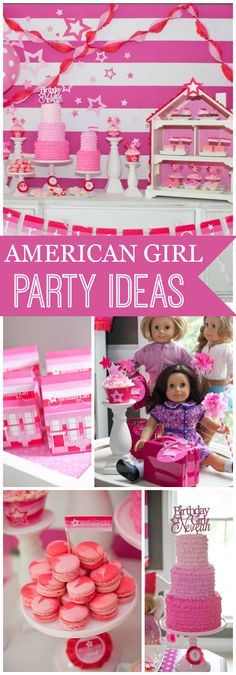 a gorgeous American Girl inspired party! See more party ideas at !what a gorgeous American Girl inspired party! See more party ideas at ! American Girl Cakes, American Girl Birthday, American Girl Parties, American Girl Diy, Girls Birthday Party Themes, Birthday Parties, 9th Birthday, Birthday Ideas, Birthday Crafts