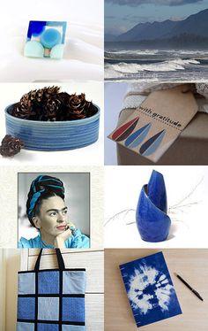 Shades of blue by Stuart McWilliam on Etsy--Pinned with TreasuryPin.com #awtreasuries #etsyau #blue