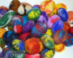Fairy Stones: hand felted wool covered rocks for imaginative play, tangibledaydreams on Etsy.