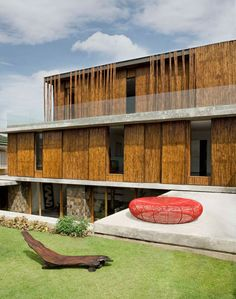 Bamboo clad house in the Philippines by Atelier Sacha Cotture.