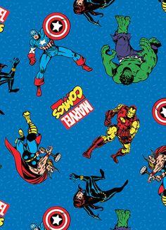 Telas retro - Tela FQ :: Marvel classic characters :: - hecho a mano por nosgustanlosretros en DaWanda