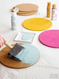 Feb 2019 - Cork transforms easily into coasters, memo boards, pushpins, tiles, and more. It's a great material to use to create function and beauty in your home. Memo Boards, Cork Boards, Cork Crafts, Easy Diy Crafts, Coaster Crafts, Deco Cactus, Diy Cork Board, Diy Memo Board, Bulletin Board