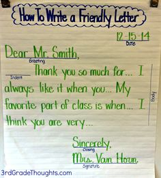 Free Online Resource For Writing A Friendly Letter Sometimes I