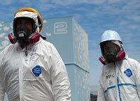 Operai a Fukushima.