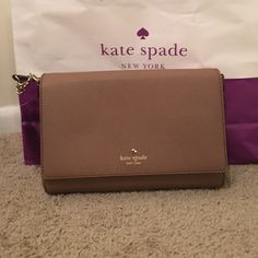 NWT Kate Spade Charlotte Street Alek This is an authentic Kate Spade Charlotte St., Alec in Dune. This bag is never been using comes new with tag. ✨Price is negotiable!✨ No Trades! kate spade Bags Crossbody Bags