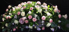 corona de flores funerarias