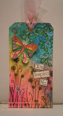 designed by Caroline Duncan ~ stampingsandinklings.blogspot.com Heartfelt Creations meets Dylusions