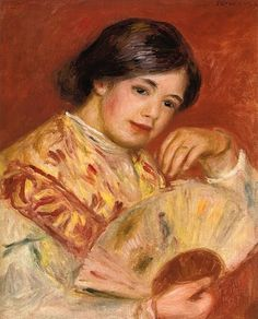 Woman with a Fan ~ Pierre Auguste Renoir