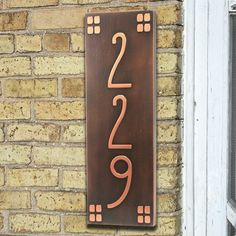 Vertical American Craftsman Home Numbers 6x18 inches by AtlasSigns, $138.00