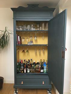 Decoration, Chalk Paint, Fun Things, Liquor Cabinet, Repurposed, Decoupage, Bar, Storage, Inspiration