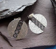 Sterling silver studs - Silver earrings - Silver post earrings - Silver jewelry…