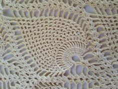 Pineapple Crochet Pattern Doily Hand Crocheted by EightBoardsFarm, $8.00