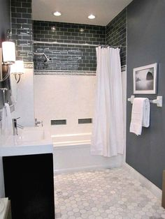 Sherwin Williams Foggy Day best dark paint colour for a room with no windows or natural light. Basement, bathroom or bedroom #BathroomRemodelCost