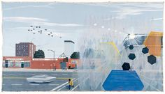 "Kerry James Marshall. ""7am Sunday Morning,'' acrylic on canvas, 2003, 120 by 216 inches."