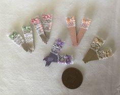 Handmade 1/12th Scale Dolls House Miniature Ladies Shop Stock 5 pairs of light leather lace ladies display gloves