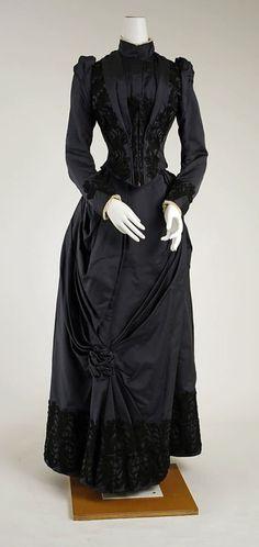 Dress, black Date: 1888–89 Culture: American or European Medium:...