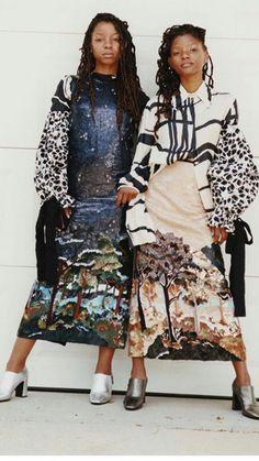 Chloe and Halle fashion fabulous.