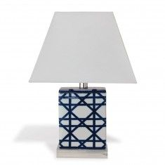 Navy and White Patterned Porcelain Mini Table Lamps (set of 2) - CURRENTLY ON BACKORDER