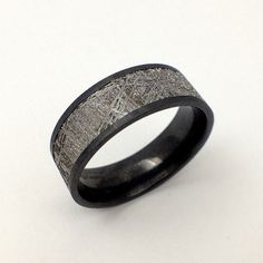 Flat Black Zirconium Ring...probably one of the coolest rings I've ever seen for a man