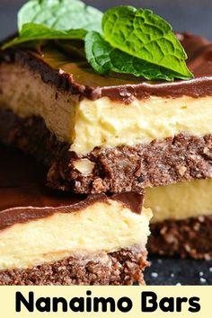 Nanaimo bars are a Canadian dessert staple! This buttercream custard filled bar is a sweet-tooth's dream! #square #bar #dessert #nanaimobars #sweet #sugar #recipe #nobake #chocolate #easyrecipe