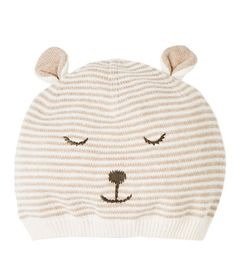 STRIPED HAT WITH LITTLE FACE EMBROIDERY-ACCESSORIES-BABY BOY | 3 months - 4 years-KIDS | ZARA Canada