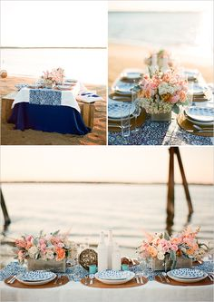 seaside table decor- {never liked beach weddings...but this changed my mind!}