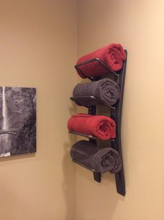 Wine Barrel Towel Rack