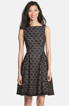 Maggy London Medallion Lace Fit & Flare Dress available at #Nordstrom