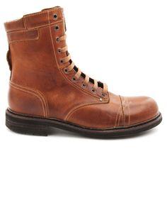 Boots en cuir marron Cassidy