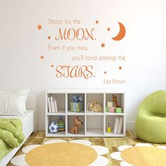 Our Shoot for the Moon quote is a perfect way to remind your little ones to aim hight! Select the...