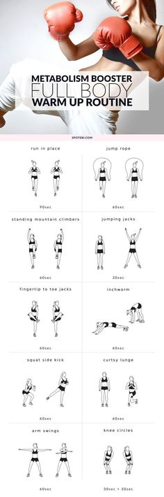 The Best Full Body Warm Up Exercises Need a quick warm up to prepare your whole body for strength training? Look no further! These are the best warm up exercises for improving your flexibility and reducing the risk of injury. Sixpack Workout, Boxing Workout, Workout Board, Workout Belt, Workout Abs, Dumbbell Workout, Sport Fitness, Fitness Tips, Yoga Fitness