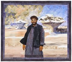 Sand Storm over the White Desert - with Magdy Badrmany, by Jenny Bowker. Read about the making of this quilt here: http://www.jennybowker.com/postcards/month/august-2009
