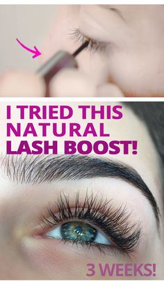 Natural routine to boost lash growth!